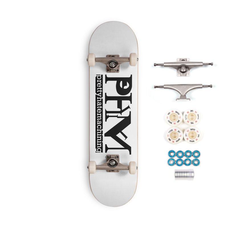 Black PHM logo Accessories Complete - Premium Skateboard by Pretty Hate Machining's Artist Shop