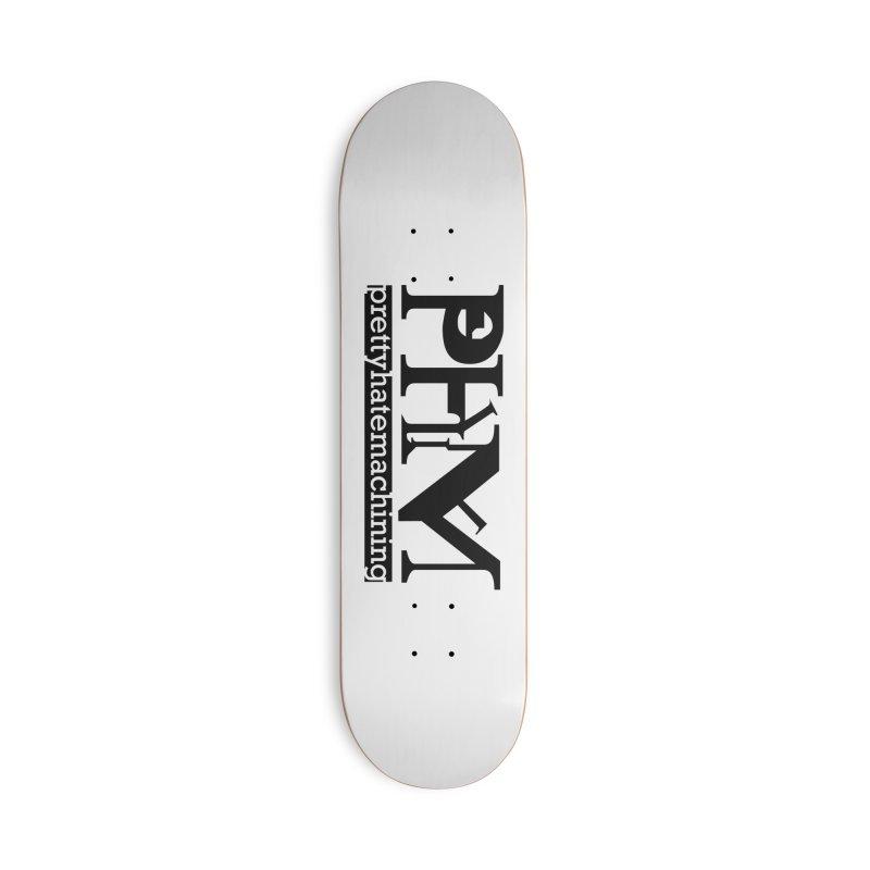 Black PHM logo Accessories Skateboard by Pretty Hate Machining's Artist Shop