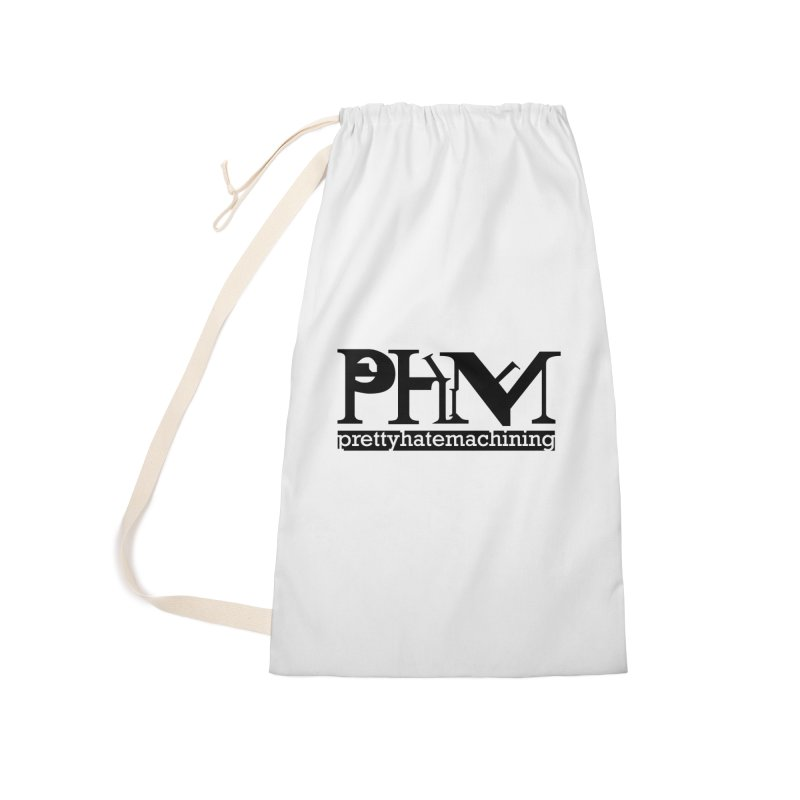 Black PHM logo Accessories Laundry Bag Bag by Pretty Hate Machining's Artist Shop