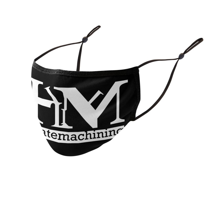 White PHM logo Accessories Face Mask by Pretty Hate Machining's Artist Shop