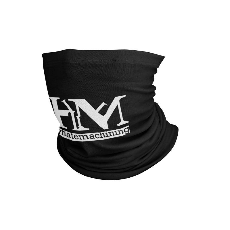 White PHM logo Accessories Neck Gaiter by Pretty Hate Machining's Artist Shop