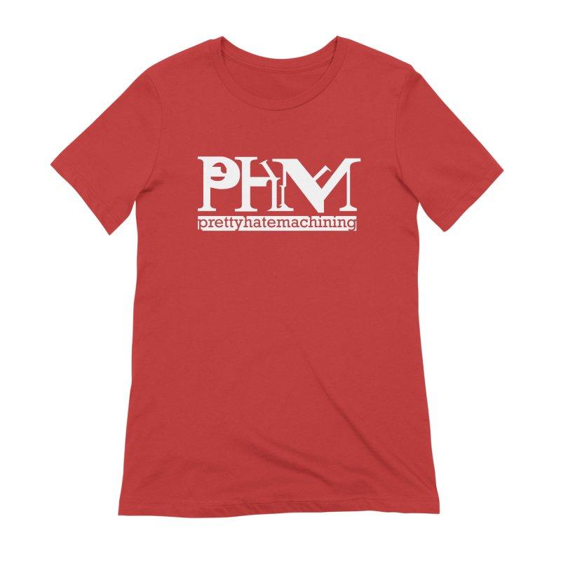 White PHM logo Women's Extra Soft T-Shirt by Pretty Hate Machining's Artist Shop