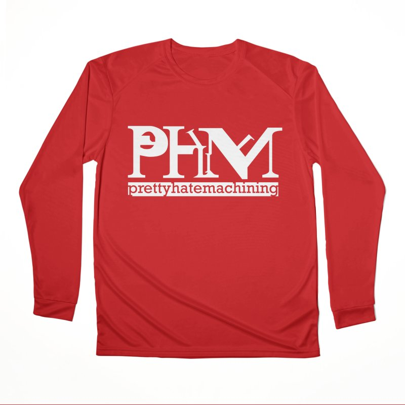 White PHM logo Men's Performance Longsleeve T-Shirt by Pretty Hate Machining's Artist Shop