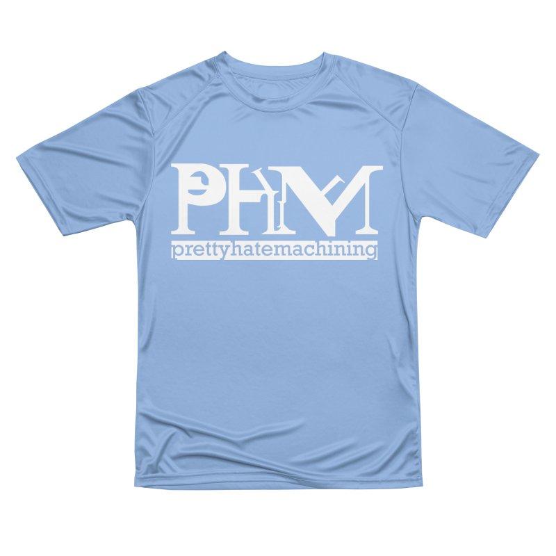 White PHM logo Men's Performance T-Shirt by Pretty Hate Machining's Artist Shop