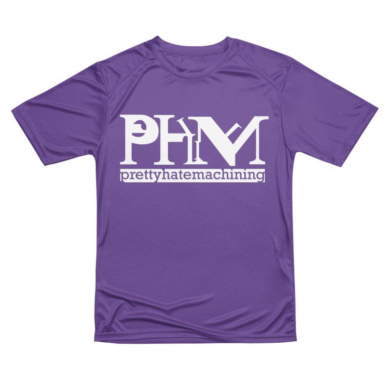 White PHM logo Women's Performance Unisex T-Shirt by Pretty Hate Machining's Artist Shop