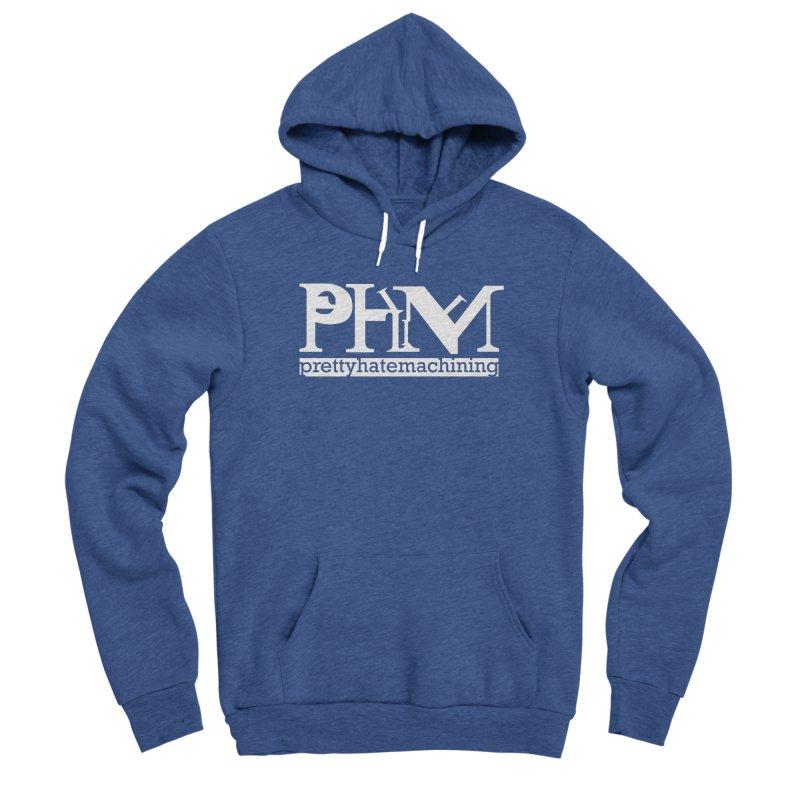 White PHM logo Women's Sponge Fleece Pullover Hoody by Pretty Hate Machining's Artist Shop