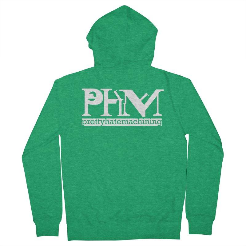 White PHM logo Women's Zip-Up Hoody by Pretty Hate Machining's Artist Shop