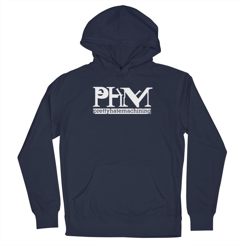 White PHM logo Men's Pullover Hoody by Pretty Hate Machining's Artist Shop