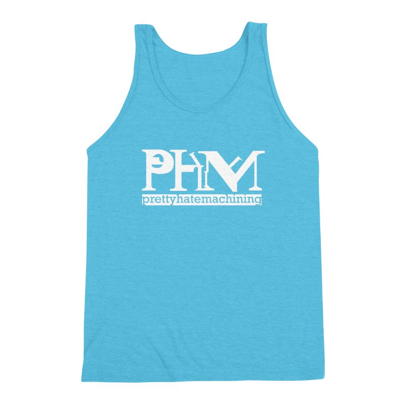 White PHM logo Men's Triblend Tank by Pretty Hate Machining's Artist Shop