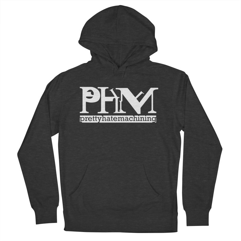 White PHM logo Women's French Terry Pullover Hoody by Pretty Hate Machining's Artist Shop