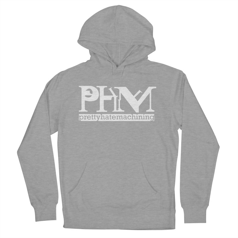 White PHM logo Women's French Terry Pullover Hoody by prettyhatemachining's Artist Shop