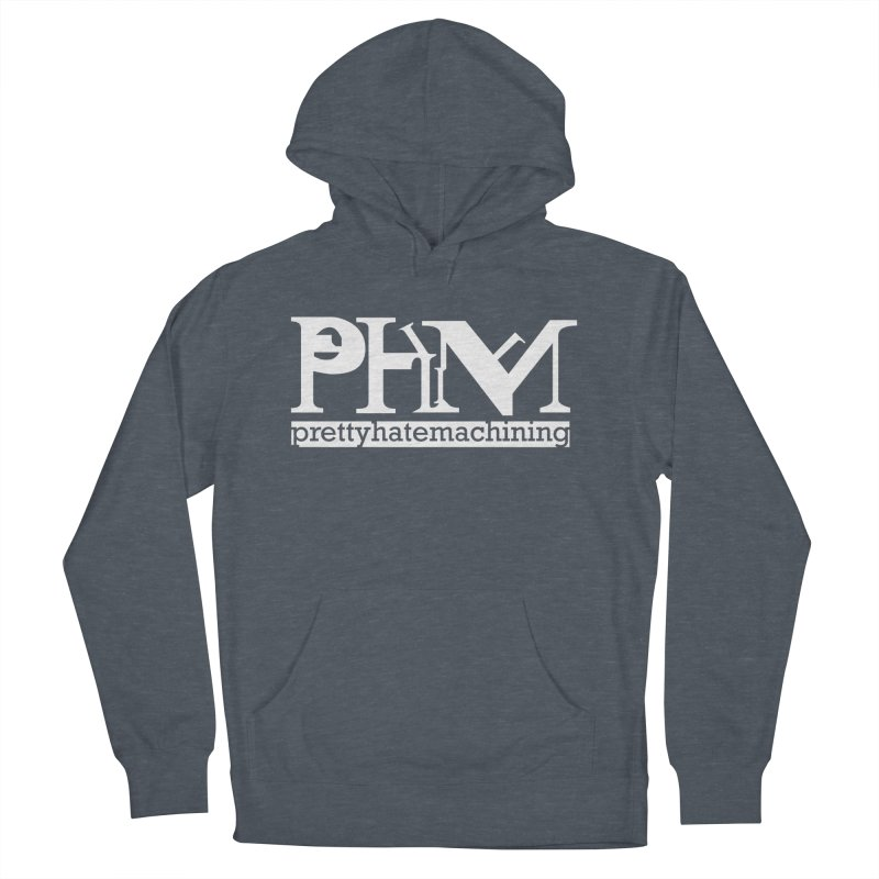 White PHM logo Men's French Terry Pullover Hoody by Pretty Hate Machining's Artist Shop