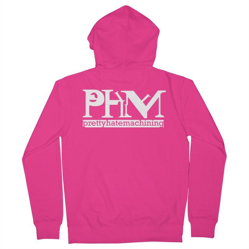 White PHM logo Men's Zip-Up Hoody by Pretty Hate Machining's Artist Shop