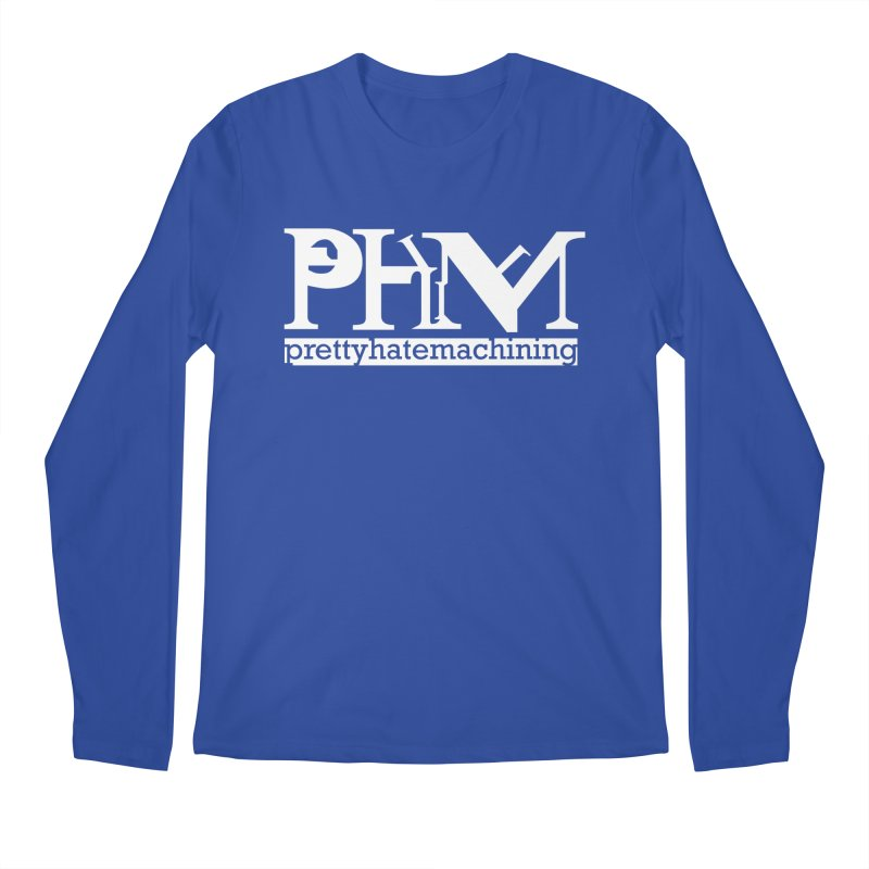 White PHM logo Men's Regular Longsleeve T-Shirt by prettyhatemachining's Artist Shop