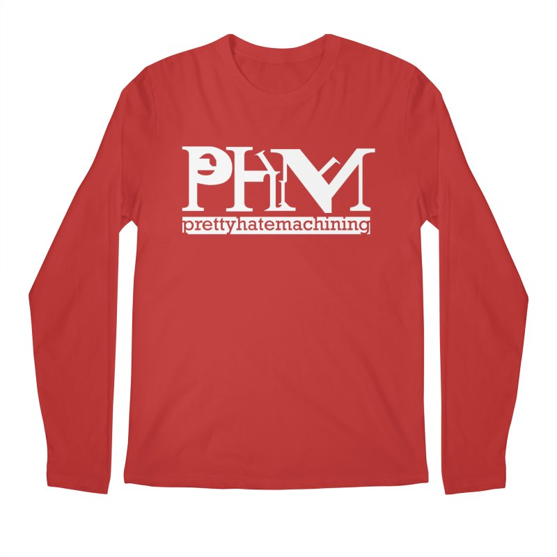 White PHM logo Men's Regular Longsleeve T-Shirt by prettyhatemachining's Artist Shop
