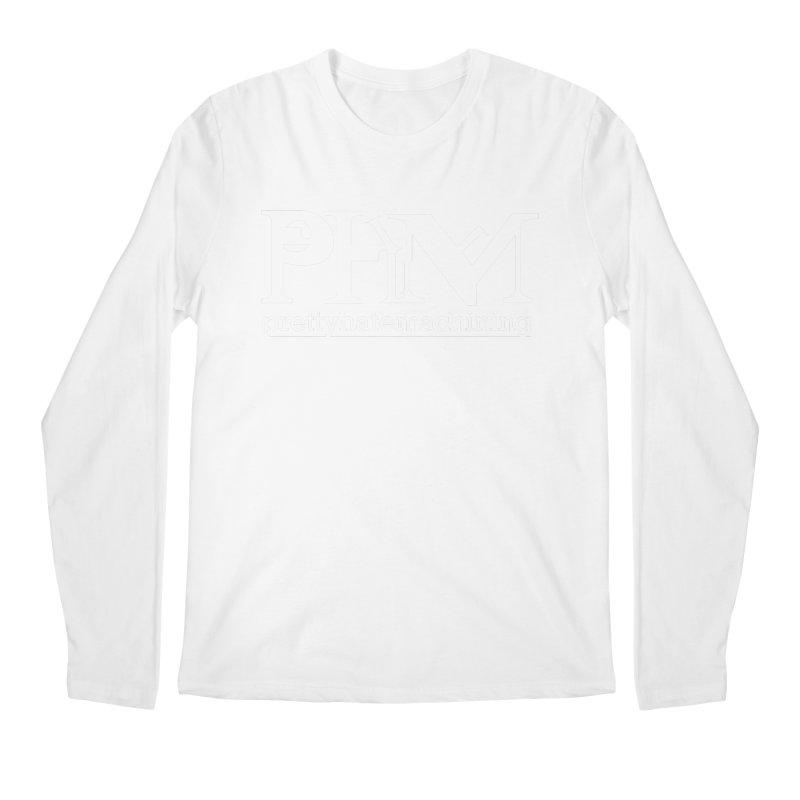 White PHM logo Men's Regular Longsleeve T-Shirt by Pretty Hate Machining's Artist Shop