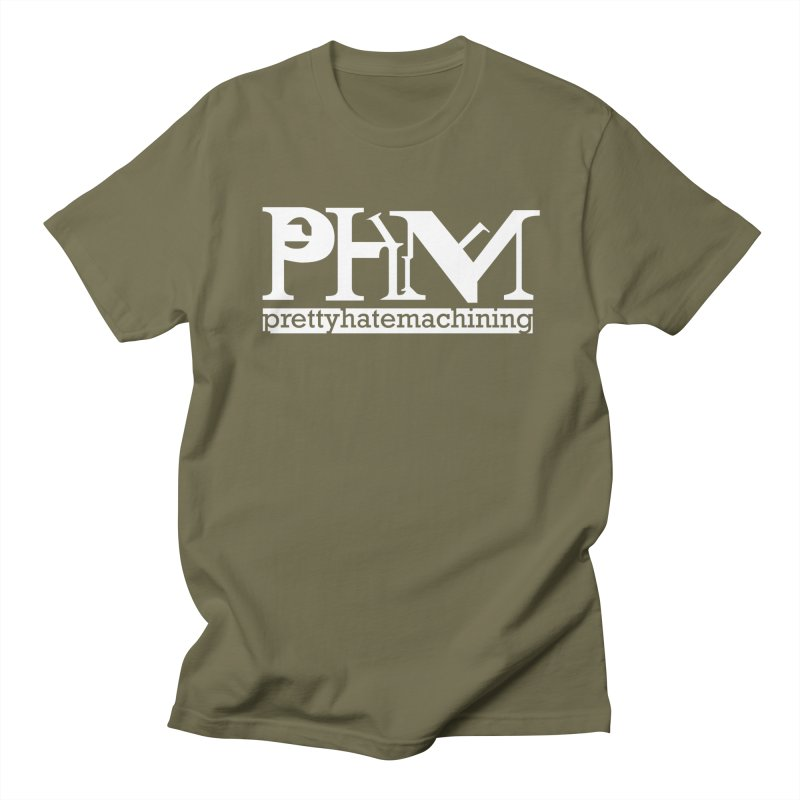 White PHM logo Men's Regular T-Shirt by Pretty Hate Machining's Artist Shop