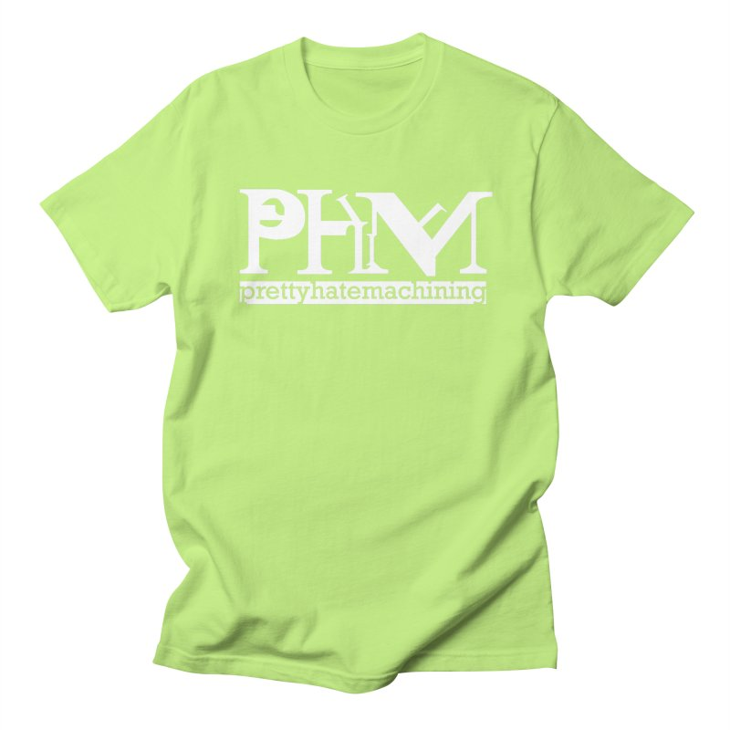 White PHM logo Women's Regular Unisex T-Shirt by prettyhatemachining's Artist Shop