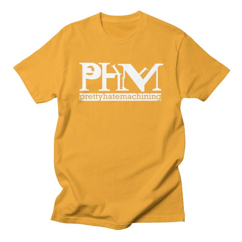 White PHM logo Women's Regular Unisex T-Shirt by prettyhatemachining's Artist Shop