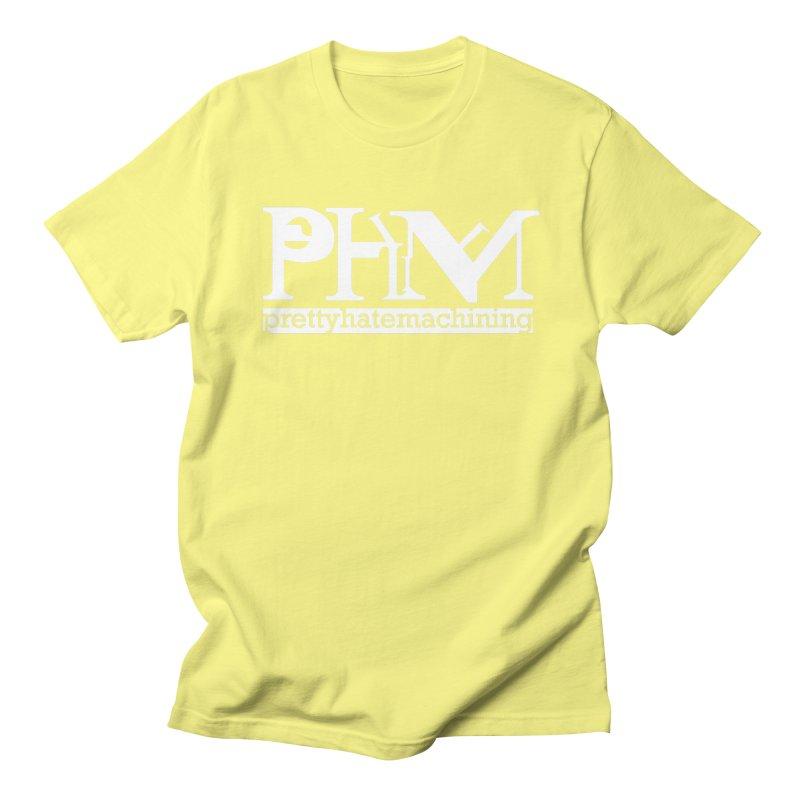 White PHM logo Women's Regular Unisex T-Shirt by Pretty Hate Machining's Artist Shop