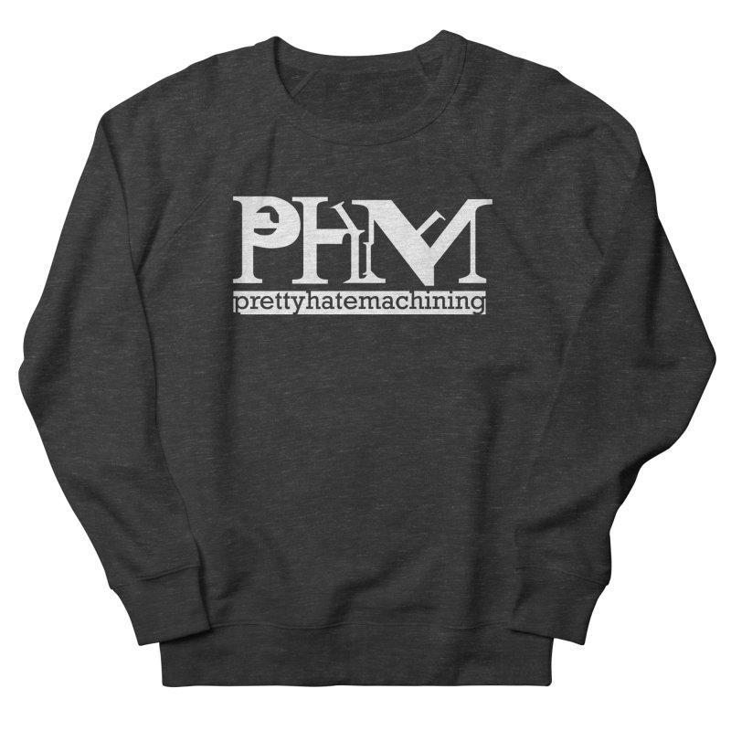 White PHM logo Women's French Terry Sweatshirt by Pretty Hate Machining's Artist Shop