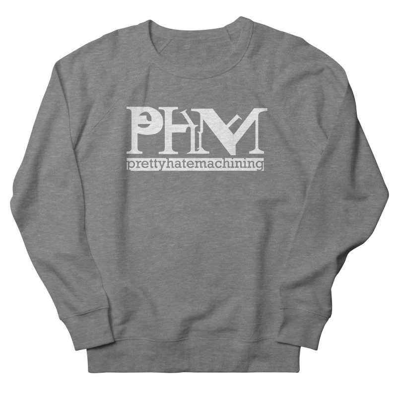 White PHM logo Women's French Terry Sweatshirt by Pretty Hate Machining's Artist Shop