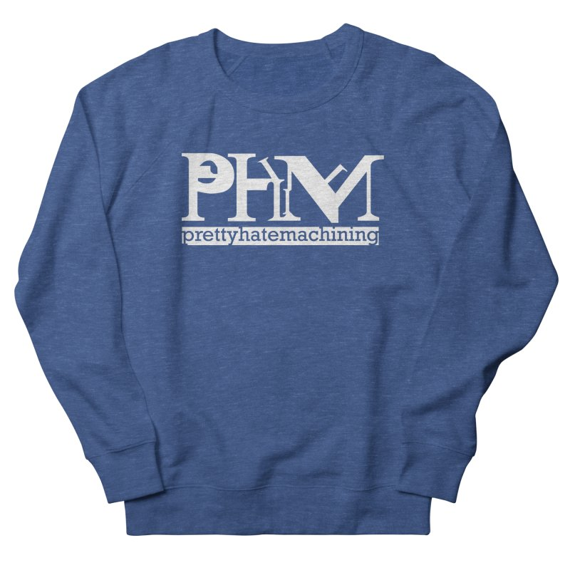 White PHM logo Men's French Terry Sweatshirt by Pretty Hate Machining's Artist Shop