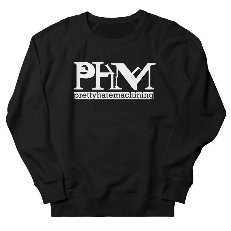 White PHM logo Men's French Terry Sweatshirt by Pretty Hate Machining's Artist Shop