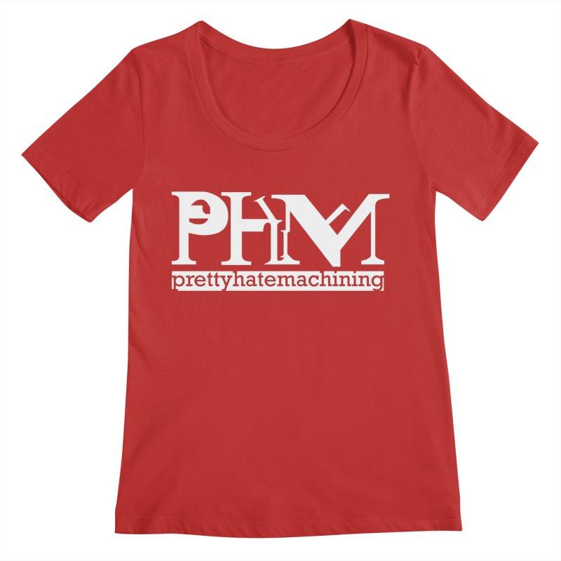 White PHM logo Women's Regular Scoop Neck by Pretty Hate Machining's Artist Shop