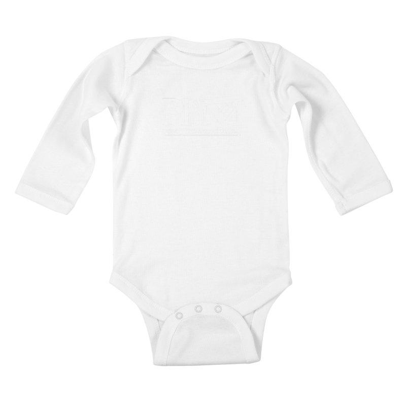 White PHM logo Kids Baby Longsleeve Bodysuit by prettyhatemachining's Artist Shop