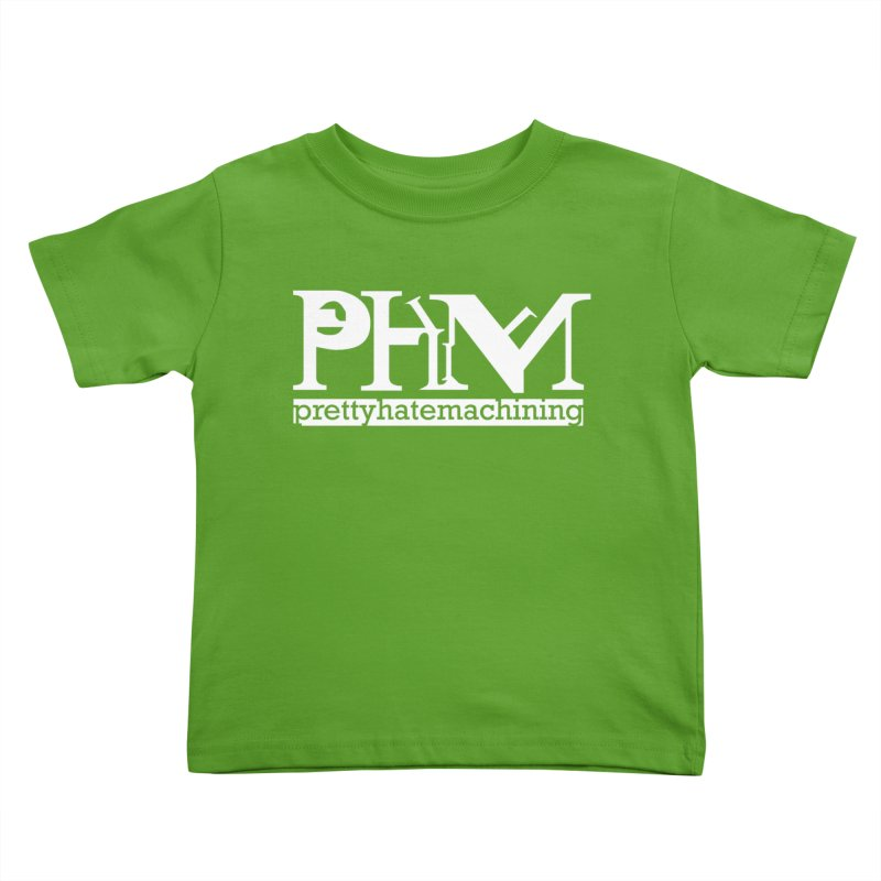 White PHM logo Kids Toddler T-Shirt by Pretty Hate Machining's Artist Shop
