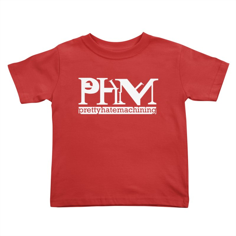 White PHM logo Kids Toddler T-Shirt by prettyhatemachining's Artist Shop