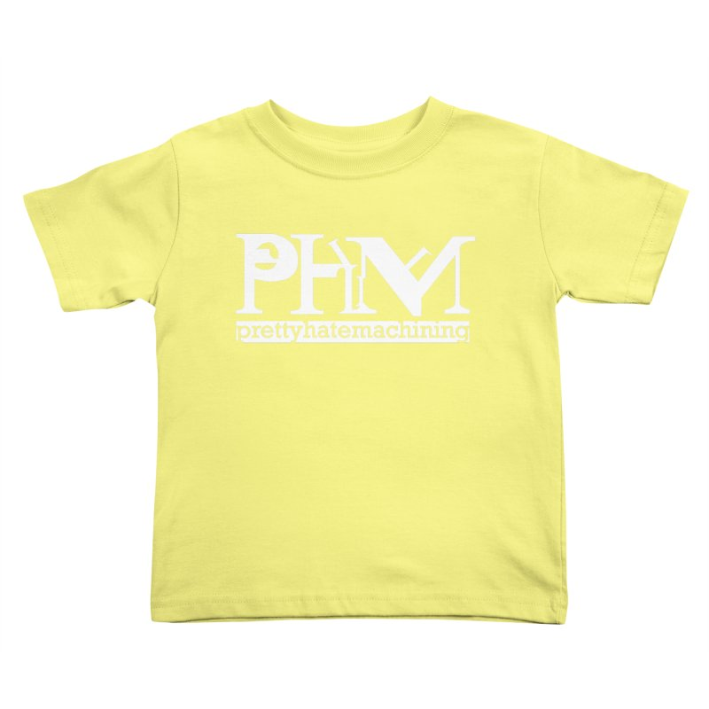 White PHM logo Kids Toddler T-Shirt by Pretty Hate Machining's Artist Shop