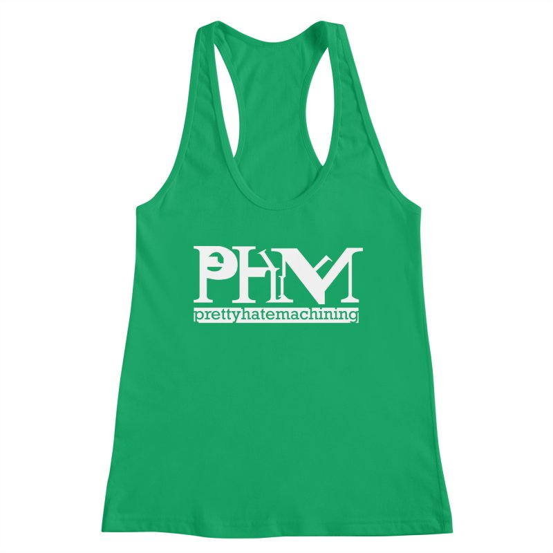 White PHM logo Women's Tank by Pretty Hate Machining's Artist Shop