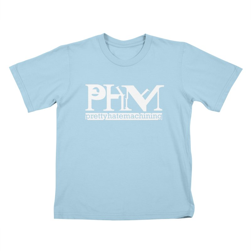 White PHM logo Kids T-Shirt by Pretty Hate Machining's Artist Shop