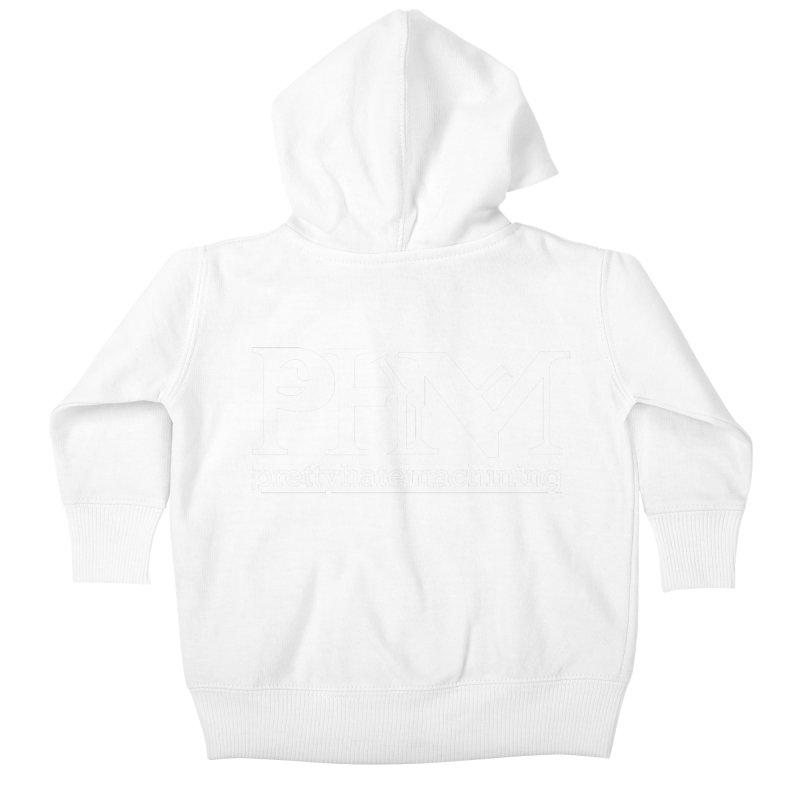 White PHM logo Kids Baby Zip-Up Hoody by prettyhatemachining's Artist Shop