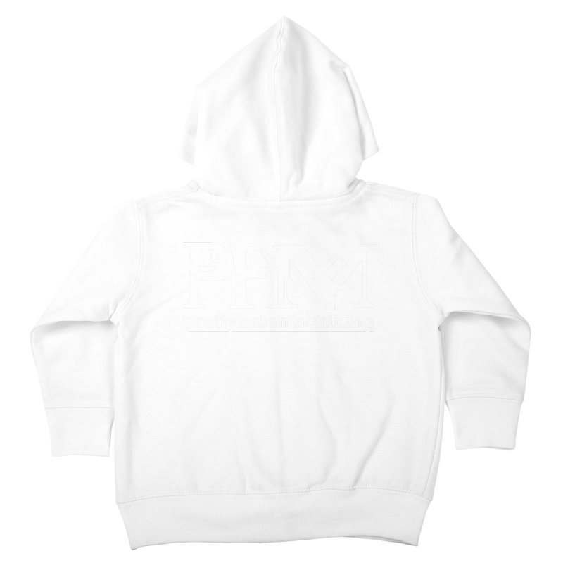 White PHM logo Kids Toddler Zip-Up Hoody by Pretty Hate Machining's Artist Shop