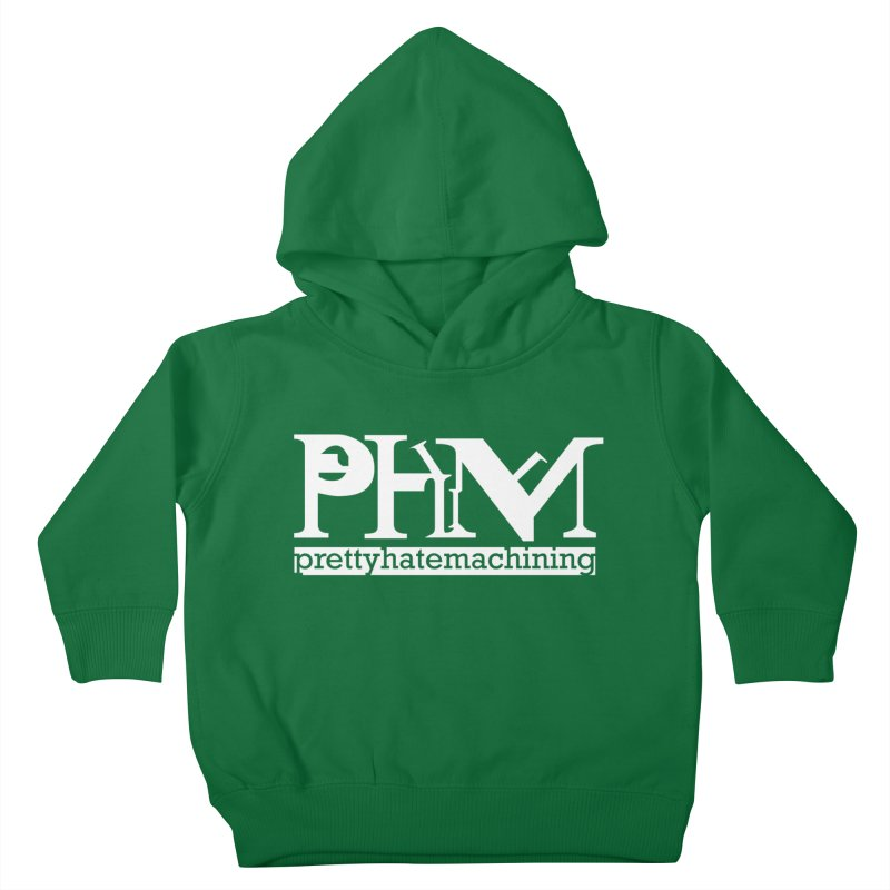 White PHM logo Kids Toddler Pullover Hoody by Pretty Hate Machining's Artist Shop