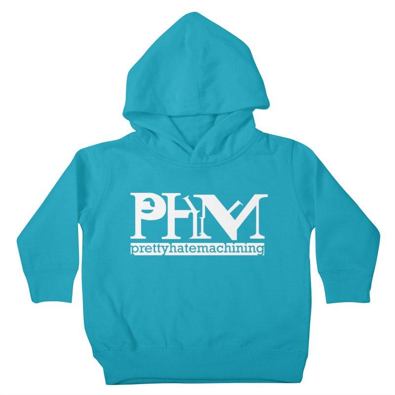 White PHM logo Kids Toddler Pullover Hoody by prettyhatemachining's Artist Shop