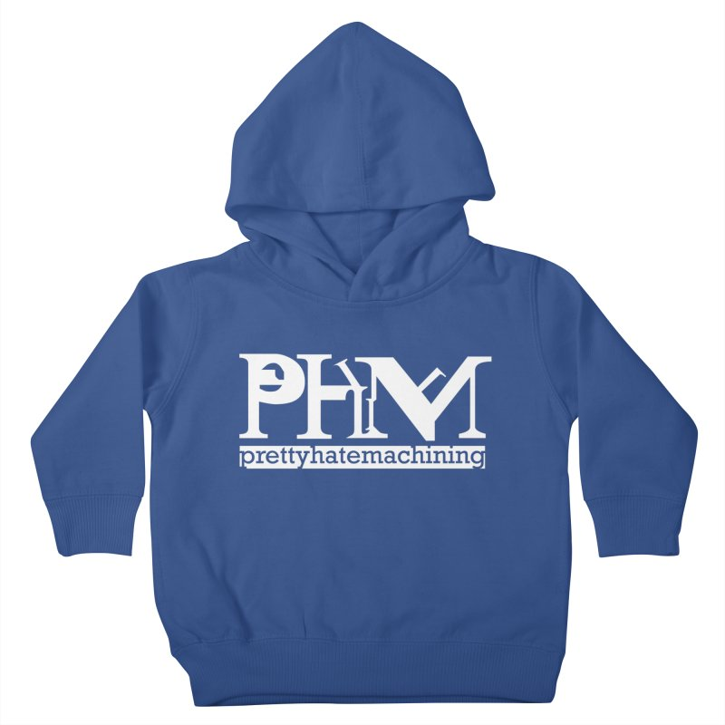 White PHM logo Kids Toddler Pullover Hoody by prettyhatemachining's Artist Shop