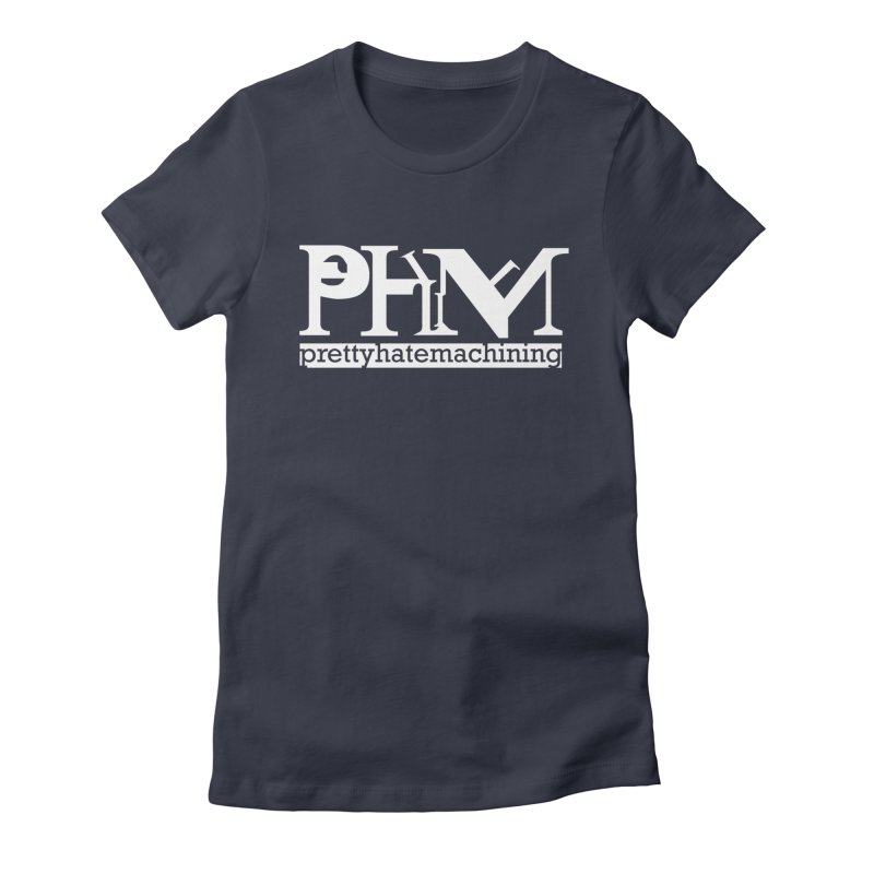 White PHM logo Women's Fitted T-Shirt by prettyhatemachining's Artist Shop