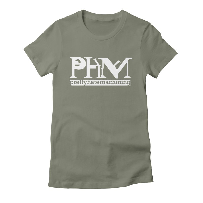 White PHM logo Women's Fitted T-Shirt by Pretty Hate Machining's Artist Shop