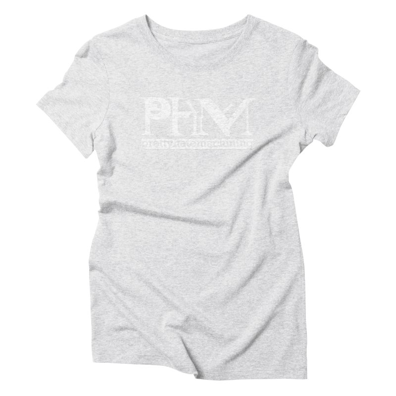 White PHM logo Women's Triblend T-Shirt by Pretty Hate Machining's Artist Shop