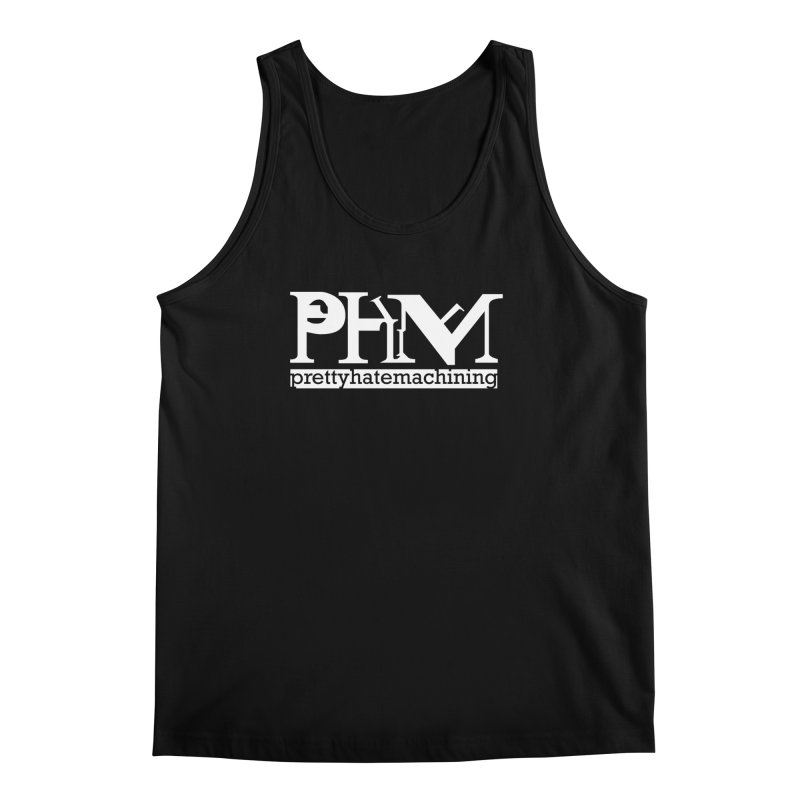 White PHM logo Men's Regular Tank by prettyhatemachining's Artist Shop