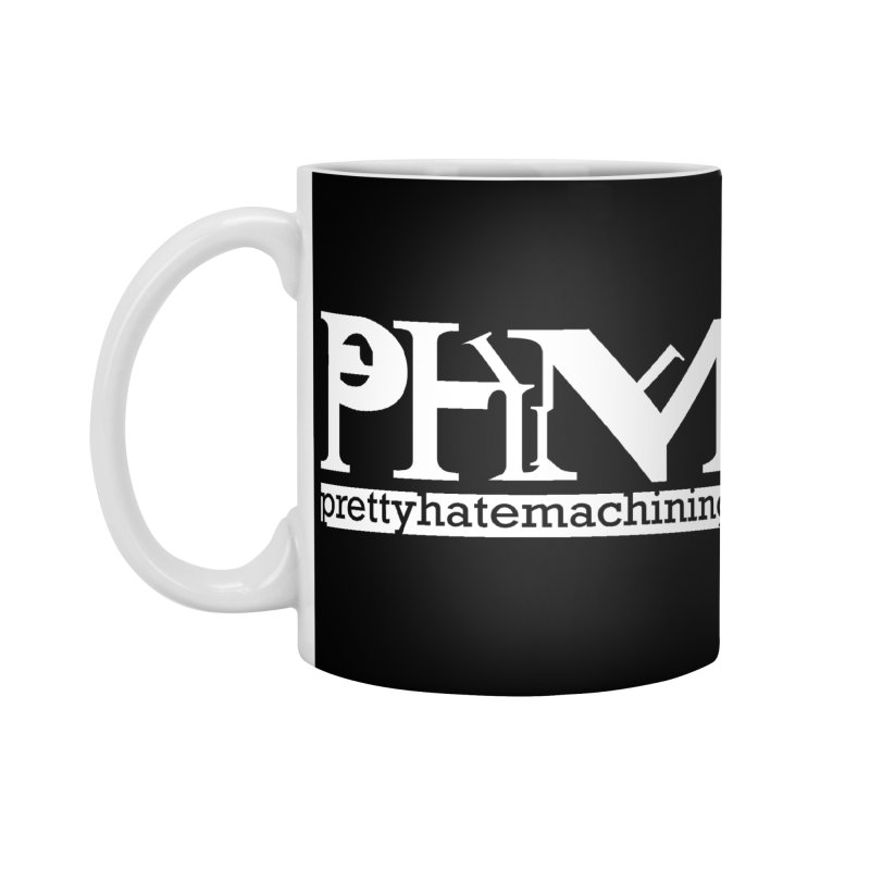 White PHM logo Accessories Standard Mug by Pretty Hate Machining's Artist Shop