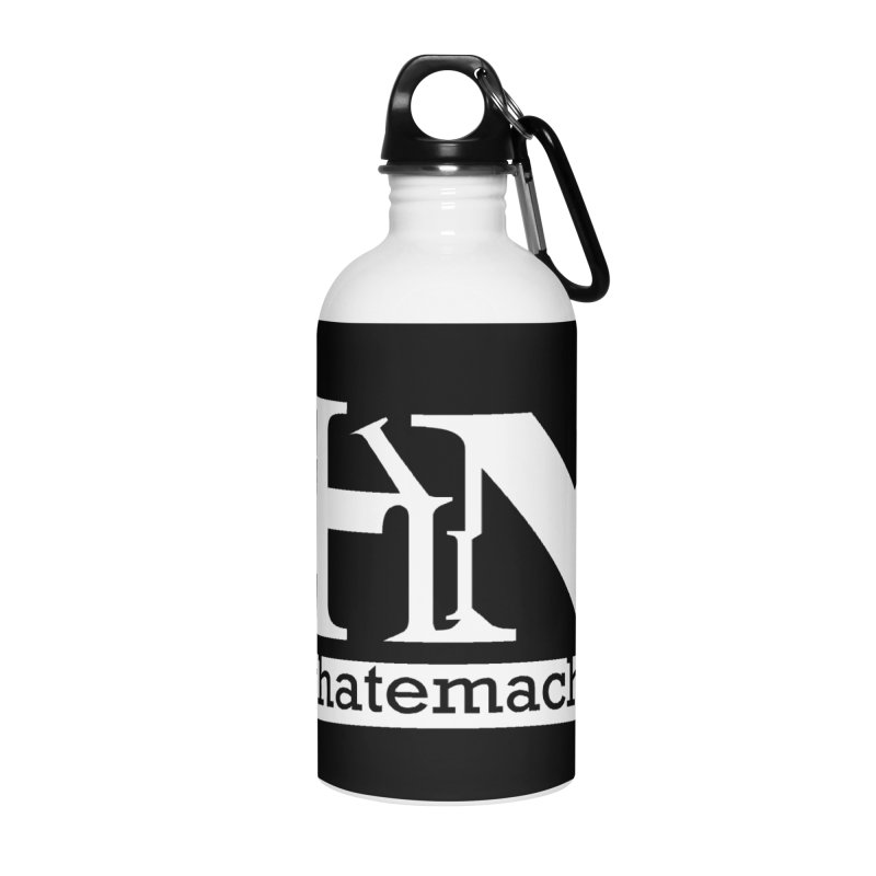 White PHM logo Accessories Water Bottle by Pretty Hate Machining's Artist Shop