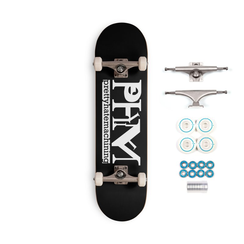 White PHM logo Accessories Complete - Basic Skateboard by Pretty Hate Machining's Artist Shop