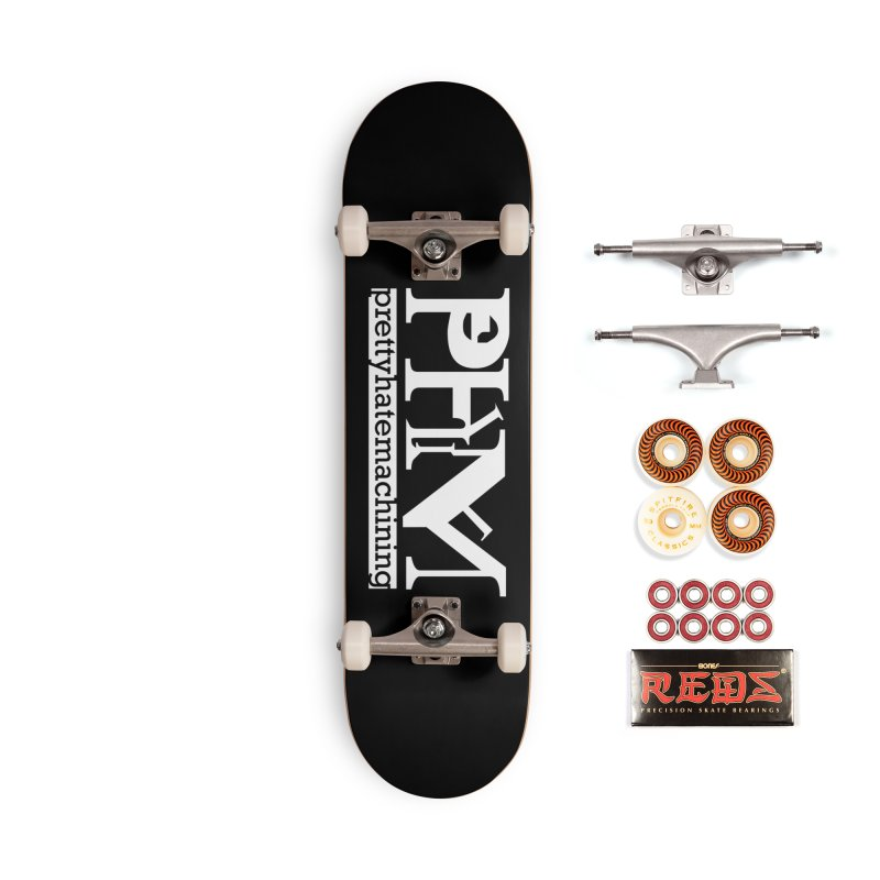 White PHM logo Accessories Skateboard by Pretty Hate Machining's Artist Shop
