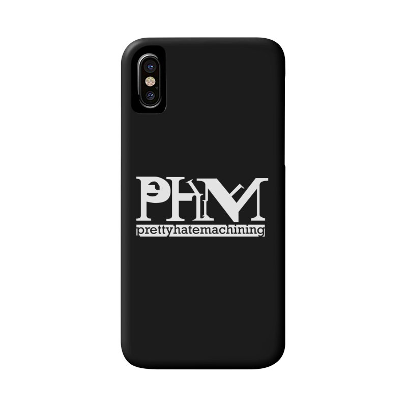 White PHM logo Accessories Phone Case by prettyhatemachining's Artist Shop