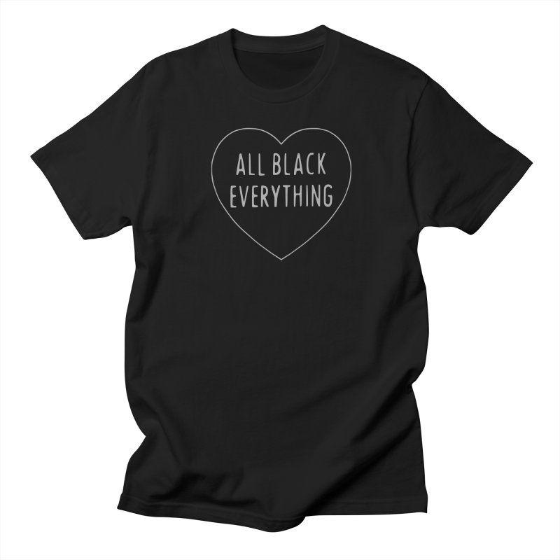 All Black Everything Heart Men's T-Shirt by Pretty In Punk